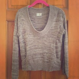 byCorpus cropped marled sweater - tan